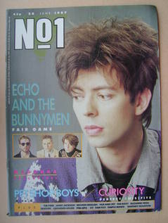 <!--1987-06-20-->No 1 Magazine - Ian McCulloch cover (20 June 1987)
