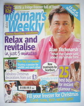 <!--2009-11-24-->Woman's Weekly magazine (24 November 2009 - Alan Titchmars