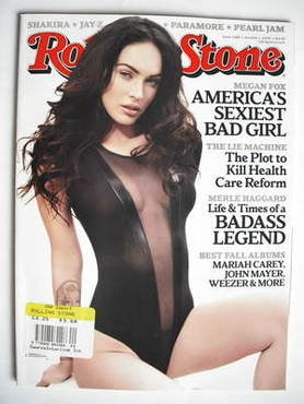 Rolling Stone magazine - Megan Fox cover (1 October 2009)