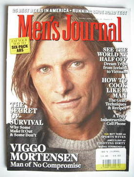 <!--2009-10-->Men's Journal magazine - October 2009 - Viggo Mortensen cover