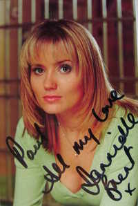 Dannielle Brent autograph (ex Bad Girls actor)