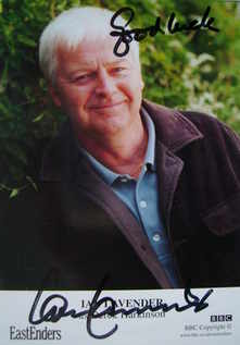 Ian Lavender autograph (ex EastEnders actor)