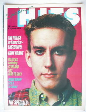 <!--1981-01-08-->Smash Hits magazine - Terry Hall cover (8-21 January 1981)