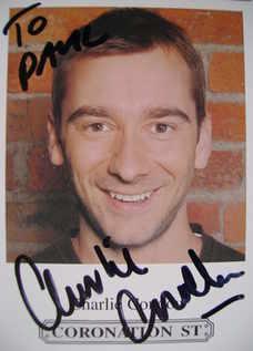 Charlie Condou autograph (Coronation Street actor)