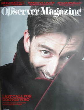 <!--2009-12-20-->The Observer magazine - David Tennant cover (20 December 2
