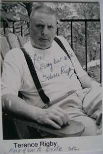 Terence Rigby autograph