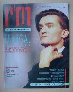 <!--1986-01-11-->Record Mirror magazine - Feargal Sharkey cover (11 January