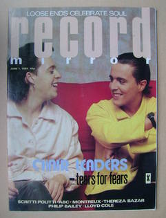 <!--1985-06-01-->Record Mirror magazine - Tears For Fears cover (1 June 198