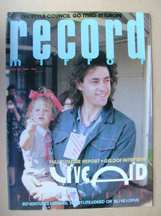 <!--1985-07-20-->Record Mirror magazine - Bob Geldof cover (20 July 1985)
