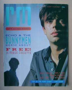 <!--1985-10-05-->Record Mirror magazine - Ian McCulloch cover (5 October 19