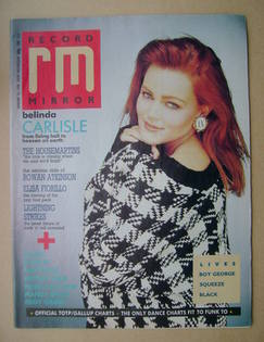 Record Mirror magazine - Belinda Carlisle cover (16 January 1988)