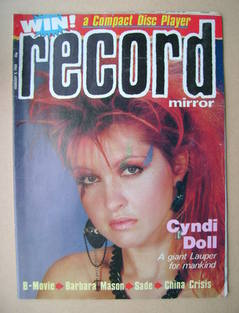 <!--1984-02-04-->Record Mirror magazine - Cyndi Lauper cover (4 February 19