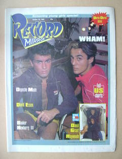 <!--1983-10-22-->Record Mirror magazine - Wham! cover (22 October 1983)