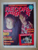 <!--1982-09-25-->Record Mirror magazine - Yazoo cover (25 September 1982)