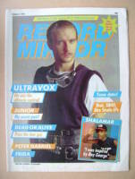 <!--1982-10-02-->Record Mirror magazine - Midge Ure cover (2 October 1982)