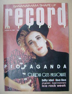 <!--1985-08-24-->Record Mirror magazine - Claudia Brucken cover (24 August