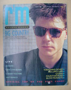 <!--1986-06-28-->Record Mirror magazine - Stuart Adamson cover (28 June 198