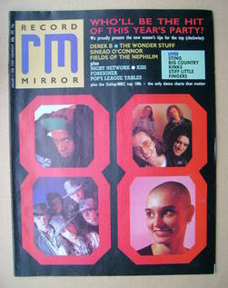 <!--1988-01-09-->Record Mirror magazine - 9 January 1988