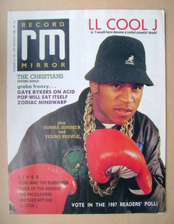 <!--1987-11-14-->Record Mirror magazine - LL Cool J cover (14 November 1987