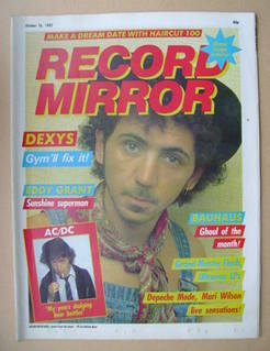 <!--1982-10-16-->Record Mirror magazine - Kevin Rowland cover (16 October 1