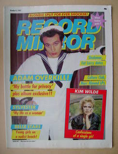 <!--1982-10-09-->Record Mirror magazine - Adam Ant cover (9 October 1982)