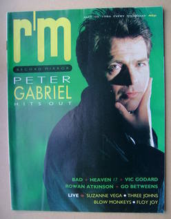 <!--1986-05-10-->Record Mirror magazine - Peter Gabriel cover (10 May 1986)