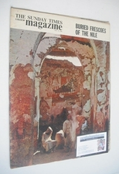 The Sunday Times magazine - Buried Frescoes Of The Nile cover (14 July 1963)