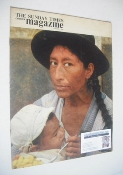 The Sunday Times magazine - Peruvian Indian mother and child cover (4 August 1963)