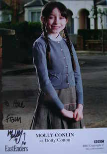 Molly Conlin autograph (EastEnders actor)