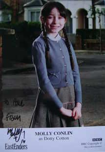 Molly Conlin autograph (EastEnders actor)