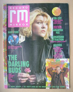 <!--1989-01-28-->Record Mirror magazine - Andrea Lewis cover (28 January 19