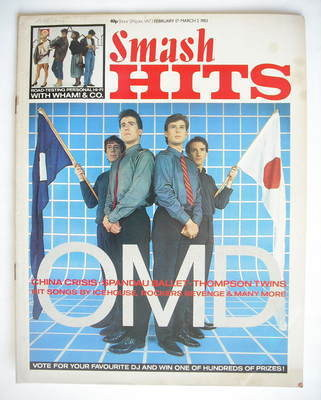 <!--1983-02-17-->Smash Hits magazine - Orchestral Manoeuvres In The Dark co