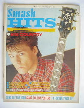 <!--1983-05-26-->Smash Hits magazine - Stuart Adamson cover (26 May - 8 Jun