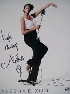 Alesha Dixon signed photograph