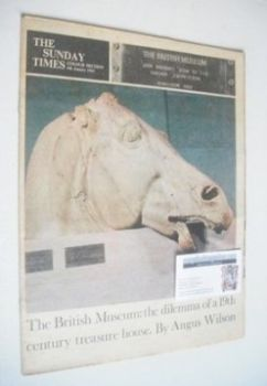 The Sunday Times magazine - The British Museum cover (6 January 1963)