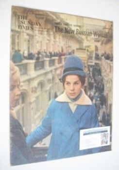 The Sunday Times magazine - The New Russian Woman cover (3 February 1963)