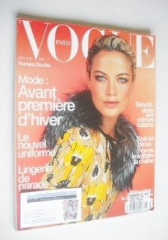 French Paris Vogue magazine - June/July 2000 - Carolyn Murphy cover