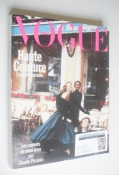French Paris Vogue magazine - September 1989 - Cordula Reyer and Naomi Campbell cover