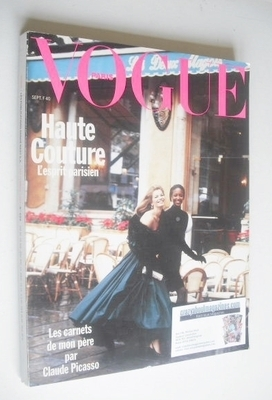 <!--1989-09-->French Paris Vogue magazine - September 1989 - Cordula Reyer
