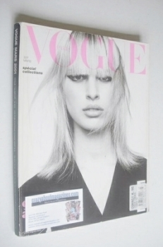 French Paris Vogue magazine - March 2001 - Karolina Kurkova cover