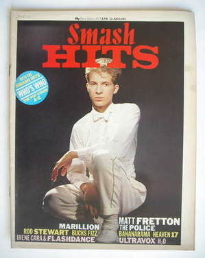 <!--1983-06-23-->Smash Hits magazine - Matt Fretton cover (23 June - 6 July