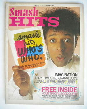 <!--1983-06-09-->Smash Hits magazine - Leee John cover (9-22 June 1983)