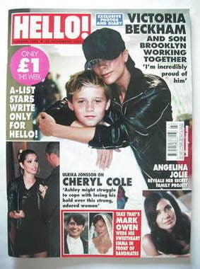 <!--2009-11-23-->Hello! magazine - Victoria Beckham and Brooklyn Beckham co
