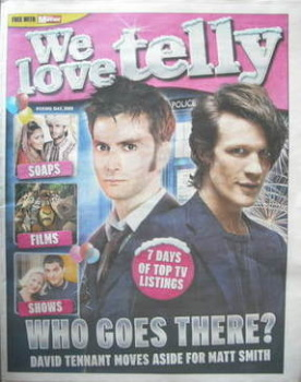 We Love Telly newspaper supplement - David Tennant and Matt Smith cover (26 December 2009)