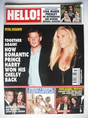 <!--2009-10-26-->Hello! magazine - Prince Harry and Chelsy Davy cover (26 O
