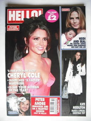 <!--2009-12-14-->Hello! magazine - Cheryl Cole cover (14 December 2009 - Is
