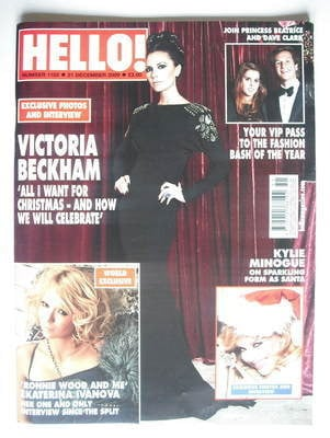 <!--2009-12-21-->Hello! magazine - Victoria Beckham cover (21 December 2009