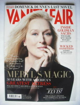 Vanity Fair magazine - Meryl Streep cover (January 2010)