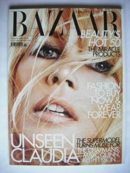 Harper's Bazaar magazine - November 2009 - Claudia Schiffer cover