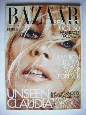 <!--2009-11-->Harper's Bazaar magazine - November 2009 - Claudia Schiffer c